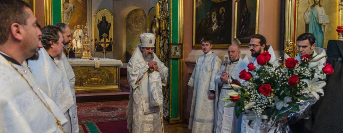 Богослужение по случаю очередной годовщины епископской хиротонии архиепископа Иннокентия